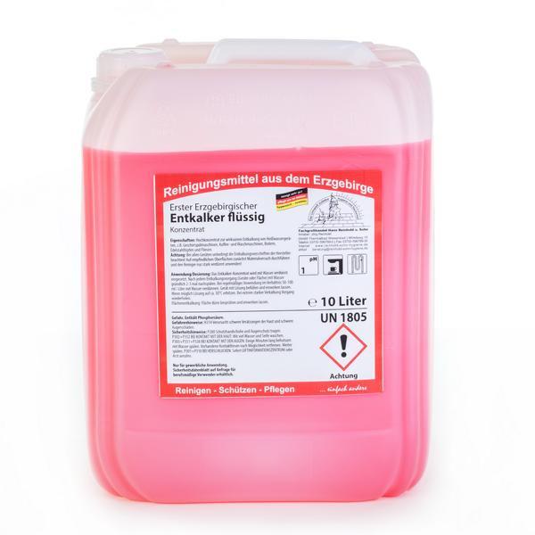 10 Liter Erster Erzgebirgischer Entkalker flüssig, Hochkonzentrat für den Bereich Großküche, Gastro